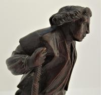 Pair of Swiss Black Forest Carved Figures, Pipe Rest & Match Holder c.1890 (8 of 19)
