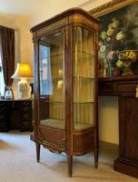 Exceptional 19th Century French Kingwood Parquetry Gilt Metal Vitrine Display Cabinet (9 of 17)