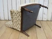 Shapely Antique Napoleon III Armchair for Re-upholstery (7 of 8)