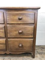 Antique Mahogany Chest of Six Drawers (8 of 9)
