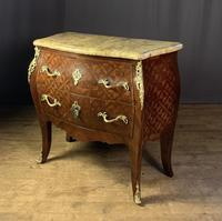 French Stamped Louis XV Kingwood Bombe Commode (6 of 13)