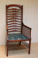 Arts And Crafts Mahogany Ladder Back Armchair (7 of 10)