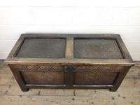 Early 19th Century Antique Oak Coffer Blanket Box (3 of 19)