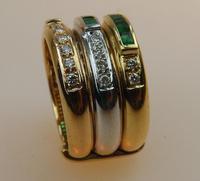 Stunning 18ct Gold, Diamond & Emerald Ring 17/n in Original Box 20th Century (3 of 10)