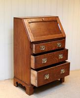 Arts and Crafts Oak Bureau (3 of 11)