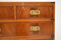 Antique Mahogany  Military Campaign Chest of Drawers (5 of 11)