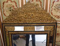 Antique French Cushion Mirror Metal Mounts Circa 1880 (5 of 11)