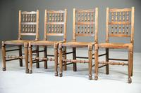 4 Country Spindle Back & Rush Chairs (6 of 11)