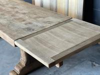 Superb Rustic Large Bleached Oak Farmhouse Table with Extensions (32 of 36)