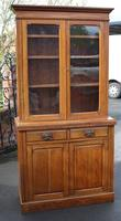 1900's Golden Oak Chiffonier Bookcase with Glazed Top (2 of 4)