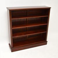 Antique Victorian Mahogany  Open Bookcase (3 of 12)