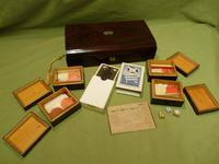 French Inlaid Rosewood Games Box + Accessories c.1880 (6 of 11)