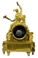 Fine French Empire Ormolu Mantel Clock (4 of 9)