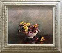 Mary E.Oddie Oil Painting - Polyanthus (2 of 4)