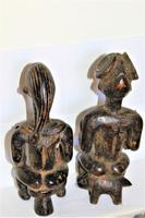 Delightful & Finely Carved Pair of Yoruba Wood Figurines (2 of 8)
