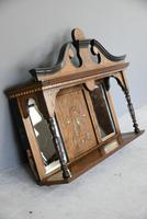 Victorian Inlaid Rosewood Overmantle Mirror Shelf (7 of 12)