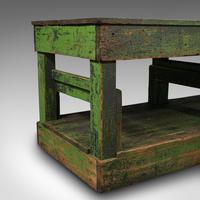 Large Antique Factory Mill Table, English, Pine, Industrial, Victorian c.1900 (10 of 10)