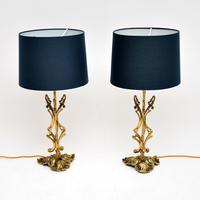 Pair of Vintage Italian Brass Table Lamps (2 of 9)