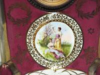Fantastic Antique French / German Sevres Mantel Clock (3 of 5)