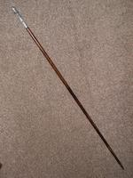 Antique Ladies Dress Cane Featuring Silver Plated Ladies Bust & Head Handle Top (2 of 11)