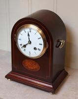 Mahogany Arch Top Mantel Clock (9 of 10)