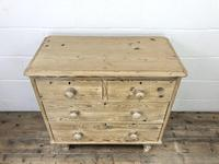 Small Antique Pine Chest of Drawers (3 of 9)