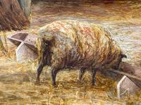 "Watercolour ""Tending The Sheep"" By Bertha Rhodes RA Rca Exh 1905 -1912 (18 of 41)"