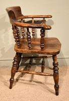 19th Century Elm Smokers Bow Armchair (5 of 6)