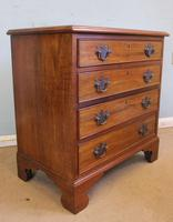 Antique Small Walnut Chest of Drawers (3 of 8)