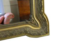 19th Century French Gilt Wall Mirror Overmantle Crest (2 of 9)