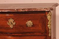 Small Curved Louis XV Commode / Chest of Drawers with Marble - 18th Century (4 of 15)