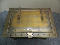 Arts & Crafts Brass Coal Bin / Log Bin (4 of 6)