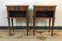 Vintage French Mahogany Cabinets Bedside Tables (5 of 14)