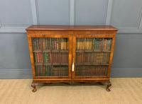 Burr Walnut Glazed Bookcase (8 of 14)