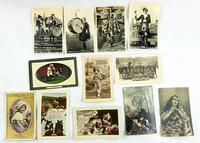 Early 20th Century Photographic Postcards Some Embossed