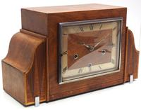 Fine Smiths Art Deco Mantel Clock Triple Chime 8 Day Westminster Chime Mantle Clock (4 of 10)