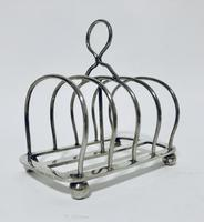 Antique Solid Silver Toast Rack (8 of 8)