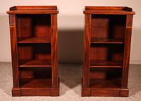 Pair of Open Bookcases 19th Century - William IV (9 of 10)