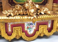 Incredible French Sevres Mantel Clock French Striking 8-day Garniture Clock Set (11 of 19)