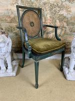 Fabulous Set of 6 Green Painted Armchairs (12 of 12)
