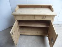 Panelled Gallery Antique Pine 2 Door Dresser Base / TV Stand to wax / paint (9 of 9)