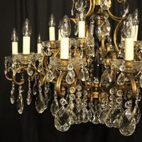 Italian Gilt & Crystal 22 Light Antique Chandelier (8 of 8)