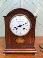 Antique Inlaid Mahogany Bracket Clock