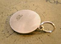 Vintage Pocket Watch Chain Silver St Christopher Fob 1970s Dainty Silver Fob (7 of 7)