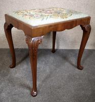 Carved Mahogany Cabriole Leg Stool In The Queen Anne Style (4 of 9)