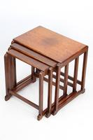 Small Art Deco Nest of Oak Tables (9 of 13)