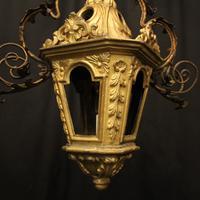 Italian Florentine Giltwood 19th Century Antique Lantern (3 of 10)