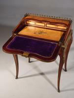 A Small Late 19th Century Satinwood and Rosewood Bureau de Dame (4 of 6)