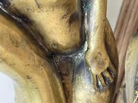 Art Deco French Signed Gilt Bronze 2 Female Nude Mermaids Swimming Statue c.1930 (19 of 41)