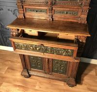 Victorian Carved Oak Secretaire Bookcase (21 of 25)